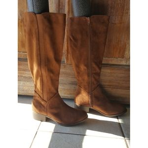 🆕️Knee-high Brown Vegan Suede Boots
